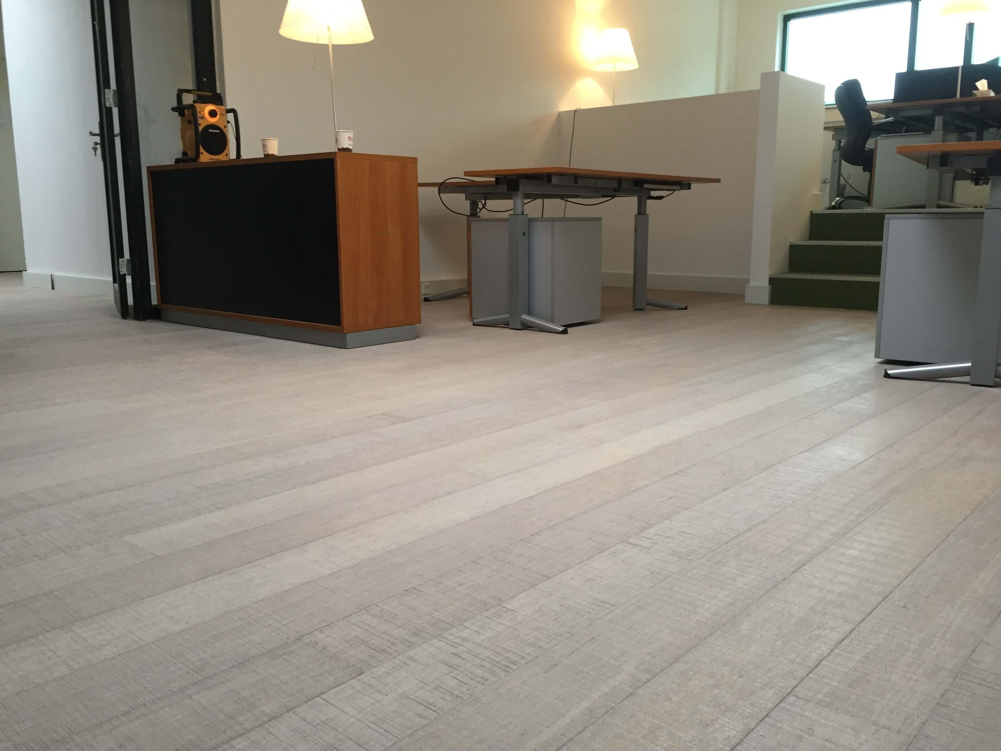 Massief houten bamboe vloer marble white tida